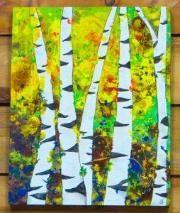 ASPENS - 20 x 16 wood canvas