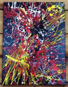 Asters - 18 x 24 - canvas