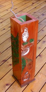 BackYard Birds Floor Vase