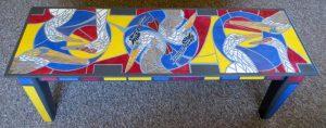 Big Birds Benched - Mosaic Interpretation Series - Bench