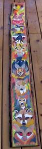Colorful Cartoon Totem - I , II & III