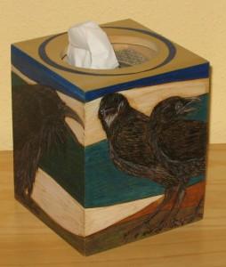 Crows - tissue box