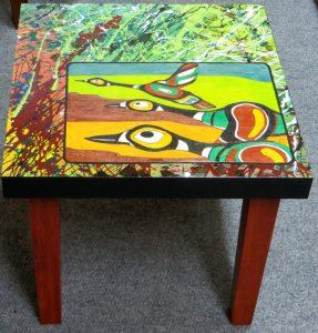 DUCKS ALOFT Handmade Side Table