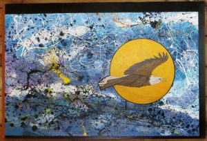 Eagle by the Sea - 24 X 48 - Raptors Rising Series