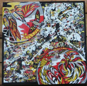 Liberal Hawks - 24x24 - wood canvas