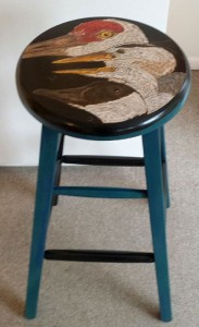 More Along the Shore - Large Stool