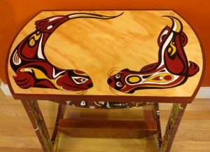 SOLD - My NW Native Otter Side Table - view 2