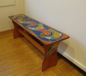 Playful Otters Bench I