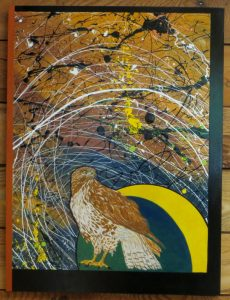 Red Tail's Realm - 32 X 24 - Raptors Rising Series