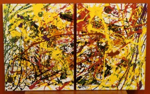 Solar Flares I & II - 16 x 20 each - canvas